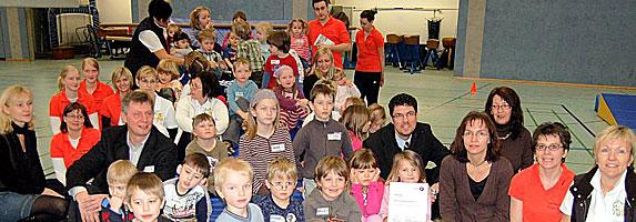 Kinder und Jugendturnen Foto für Zertifizierung